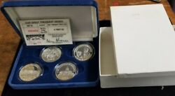 Ronald Reagan- Our Great President- Rarities And Mint 4 1oz Fine Silver Coin Set