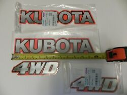 Genuine Oem Kubota Label Decals To Fit Models Bx B And L Tractors And Some Others.