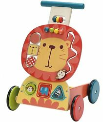 Labebe - 4 Wheels Walker For Baby, Wooden Push Wagon Toy For 1-3 Years Old Girl/