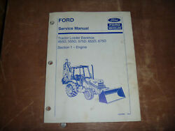 Ford New Holland 455d 555d Tractor Loader Backhoe Engine Service Repair Manual