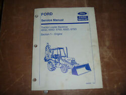 Ford New Holland 575d 655d Tractor Loader Backhoe Engine Service Repair Manual