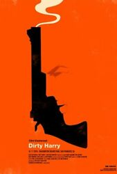 Olly Moss Dirty Harry Rolling Roadshow Mondo Poster Print Rare