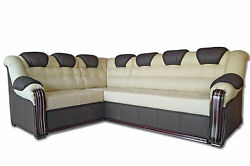 Corner Sofabed + Storage Real Italian Leatherleft Or Rightcan Be Customised