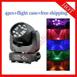 640w Led Beam Wash Zoom 3 In 1 Moving Head Light Flight Case 4pcs Free Shipping