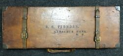 William Powell - Vintage Case For A Pair Of Shotguns - Leather On Wood Frame