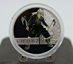 Tuvalu 2010 - Viking - Great Warriors Series 1 Oz Silver Proof Coin