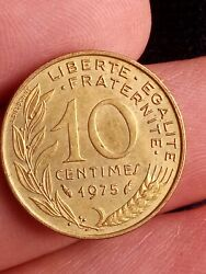 France Republique Francaise 1975 10 Centimes French Free Uk Post Kayihan Coins