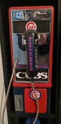Chicago Themed Pay Phone Rare Baseball Themed 1/1 Works Unique Vintage Custom