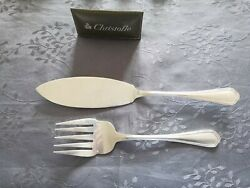 Christofle Spatours Covered Service A Fish Silver Metal 11 3/16in/8 7/8in