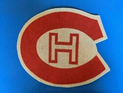 Nhl Rare 1940and039s Montreal Canadiens Vintage Felt Team Crest N-mint 5 Inch.