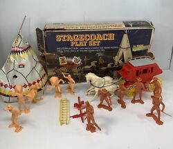 Vintage Stage Coach Playset By Marx - Western Action