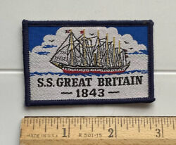Ss Great Britain 1843 Great Western Steamship Company Souvenir Woven Patch Badge