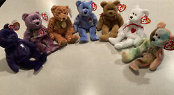 Ultra Rare Ty Beanie Baby Bear Lot One Of A Kind Collection Tag Errors