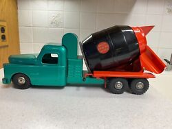 1950s Vintage Structo Toys Pressed Steel Ready Mix Concrete Cement Truck