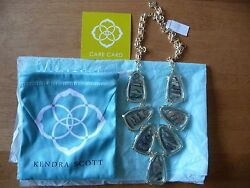 Kendra Scott Signature Harlow Necklace In Suspended Abalone And Gold Plated Brass