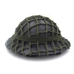 Wwii Uk Army World War2 Mk2 British Tommy Steel Helmet Black With Cover Strap