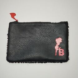 Ipsy Betty Boop Sequin Makeup Bag Pouch Black Red Heart Clutch Storage $5.95