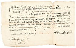 1770 North Carolina Governor Abner Nash Personal Issue Promissory Note