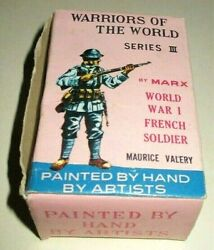 1960's Marx Warriors Of The World Ww I French Soldier Maurice Valery Series 3
