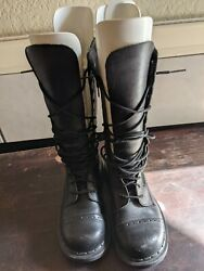 Dr. Martens 9a21 Made In England Wedge Discontinued 16 Eyelet Boots Us Size 5