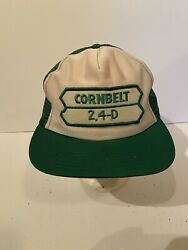 Vintage Union Made Corn Belt 2 4-d Mesh Trucker Snapback Patch Hat-made In Usa