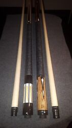 2 New Dale Perry Pool Cues With Stage 4 Iv Shafts A Case And Joint Protectors