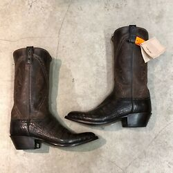 Lucchese Caiman Crocodile Leather Cowboy Boots Multiple Sizes