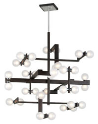 Troy Lighting F6077 36 Light Pendant Network Forest Bronze And Polished Chrom