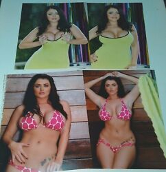 Lot Of 8 Sophie Dee Porn Star 8x10 Photos