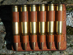 30-06 Rifle Cartridge Holder Bullet Holder Ammo Belt Natural Leather