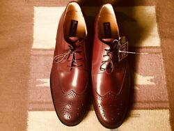 New Bass And Co. Men's Leather Formal Brown Oxford Shoes 11
