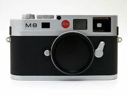 Leica M8 Rangefinder Digital Camera Silver Chrome Body Excellent From Japan F/s