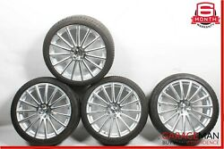 Mercedes S550 Cl550 Complete Staggered 9.5x8.5 Wheel Rim Rims Set Of 4 Tires R20