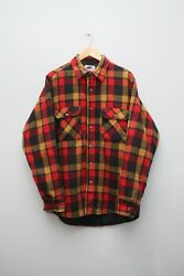 Authentic Private Property Checkered Over Shirt Menand039s Size Large Made In Usa