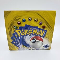 Pokemon Card Wotc 1st Edition Base Set Shadowless Booster Box Empty Good Cond