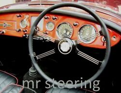 For Triumph Tr4 A 1965-1967 Real Black Leather Steering Wheel Cover Choose Color