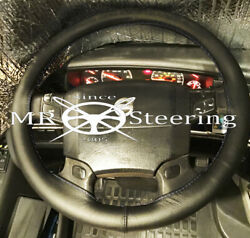 For Volvo Vnl610 Truck 1998-2006 True Leather Steering Wheel Cover Double Stitch