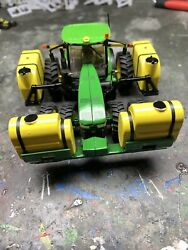 1/64 Custom John Deere 8400r Tractor W/ Front And Side Saddle Tanks Farm Toy
