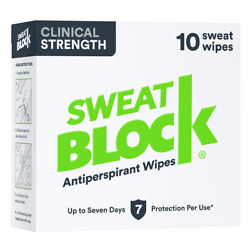 Sweatblock Clinical Antiperspirant Wipes - Best Price - Direct From Manufacturer