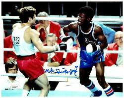 Michael Spinks Signed 8x10 Photo - Boxing Fighter Usa Gold - Jsa Coa
