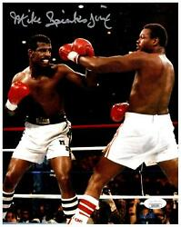Michael Spinks Signed 8x10 Photo - Boxing Fighter Usa W/holmes - Jsa Coa