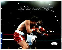Michael Spinks Signed 8x10 Photo - Boxing Fighter Usa Right Punch - Jsa Coa