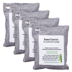 30xactivated Bamboo Charcoal Bag Odor Remover 200gx4 Air Purifying Bags