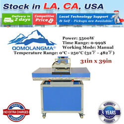 Usa 220v 31in X 39in Large Format Clamshell Textile Transfer Heat Press Machine