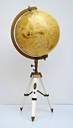 World Globe With Tabletop Tripod School Lab Equipment And Office/home Decorative