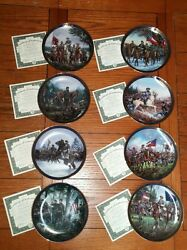 Gallant Men Of The Civil War Plate Complete Collection Of 8 With Coas