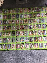 Scanlens Wsc Cricket Cards Full 84 Set On Poster Format 1980s Collectible