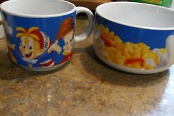Kelloggs Rice Krispy Snap-crackle And Pop Cereal Bowl And Mug -large