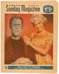 Munsters Rare Vintage 1964 Miami Herald Tv Guide Newspaper Supplement