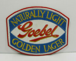 Large Goebel Naturally Light Golden Lager Beer Patch, New